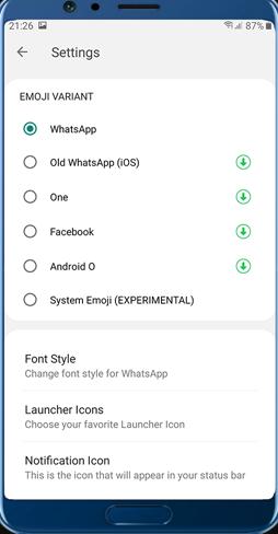 GB Whatsapp Pro Colors