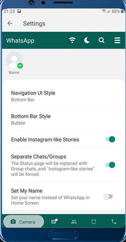 GB Whatsapp Pro Interface